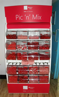 Pick 'n' Mix Sweet stand for hire at Exhibition