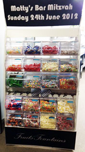 Bar Mitzvah personalised Pick 'n' Mix Sweets Stand for Hire in Manchester
