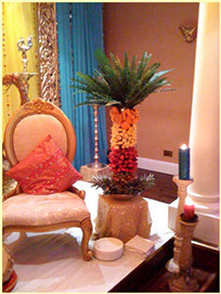 Fruit Palm Tree at Delicious Fruits & Fountains Client Event