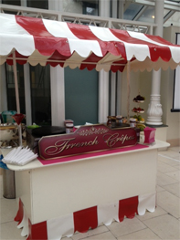 French Crepe stand for hire by Delicious Fruits and Fountains
