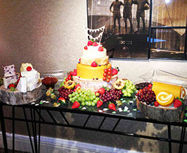 Cheese Tower with luxurious platters of fruit - Manchester