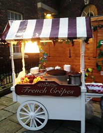 French Crepes Barrow for Events hire from Delicious Fruits & Fountains