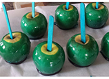Grreen Toffee Apples for Halloween Party