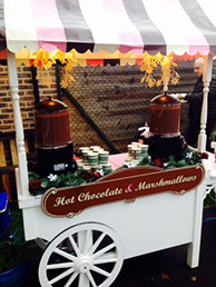 Hot Chocolate and Marshmallows cart for Party Hire