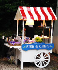 Freshly Cooked Fish & Chips Cart for Event hire in Manchester
