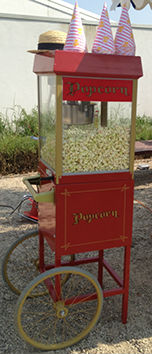 Freshly made Pop Corn with cones - Delicious Fruits & Fountains hire