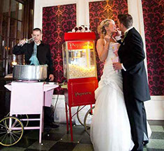 Candy Floss and Popcorn Cart for Weddings hire - Manchester