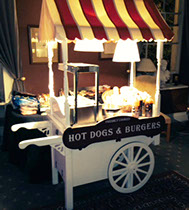 Hot Dogs and Burger Cart Hire for Halloween parties in Leeds