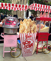 Candy Floss and Pop Corn Carts @ Delicious Fruits & Fountains