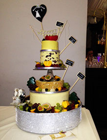 Cheese Tower and Fruit - Wedding Catering Chester
