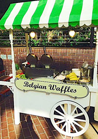 Belgian Waffles Cart for Party hire in Manchester